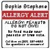 Kids Allergy Labels