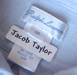 Applied Labels on Clothing